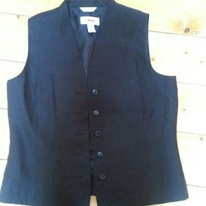 Talbots Jackets & Coats - Irish linen black vest.